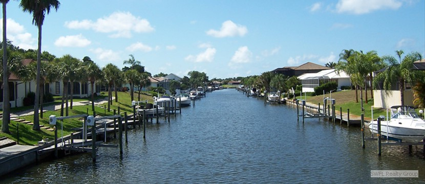 Cape Coral residential canal